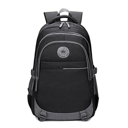 SQB Neue Stil Taschen, Anti-Spritz Tuch, Multi-Layer-große Kapazität Männer Schultern 15,6 Zoll Computer High-School-Taschen
