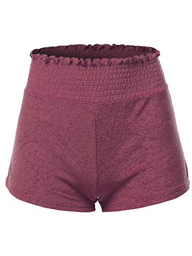Made by Emma Soft French Terry Running Lounge Active Shorts Dark Mauve L