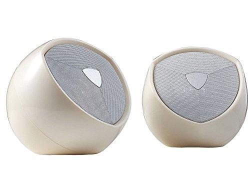 BestFire® Silvery USB Powered Portable Mini Hi-fi Stereo Superior Bass Music Speaker for Laptop, Desktop, Table PC, Mobile Phone, MP3 MP4 MP5, PSP etc.