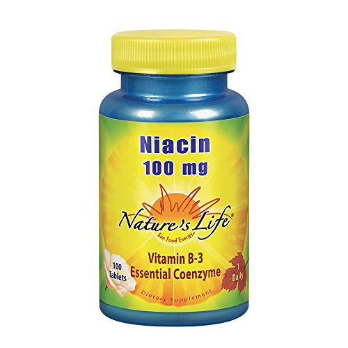 Niacin 100mg - Vegetarian Nature's Life 100 Tabs