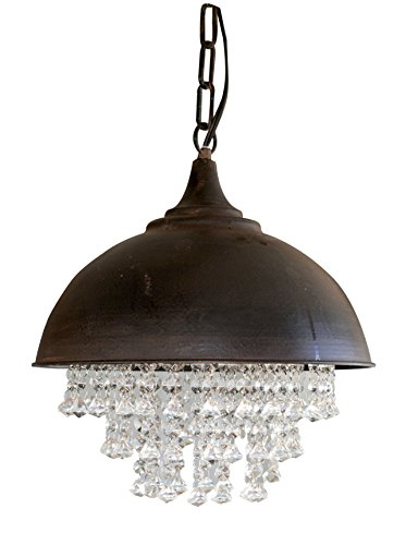 Creative-Co-Op-Metal-Chandelier-with-Crystals-13-14-Round-by-15-Height