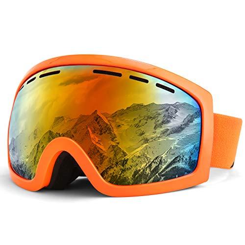 Kutook Skiing Goggles Snowboard Goggles Ski Motorcycle Goggles Orange Frame