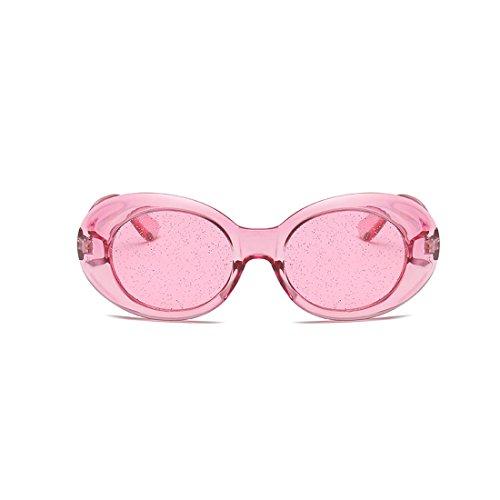 Tinted Polvo Oval A Polvo Gafas Thick Lens de Eyewear Glasses Vintage Través Retro Frame sol Yefree Del wvU7qFA