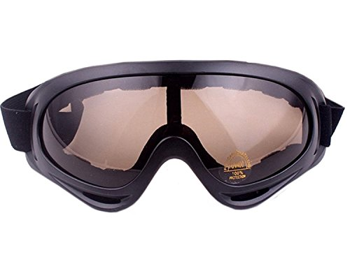 Minalo UV Protection Outdoor Sports Ski Glasses CS Army Tactical Military Goggles Windproof Snowmobile Bicycle Motorcycle Protective Glasses Ski - Best Goggles Cycling