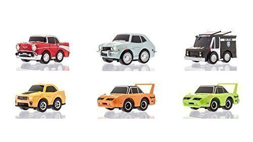 Greenlight 6 Cars Gift Pack Set, 2 Speed Pull Back Motor Mini Hot Toy Car Town Model Series 2 - (6 CARS INCLUDED) -