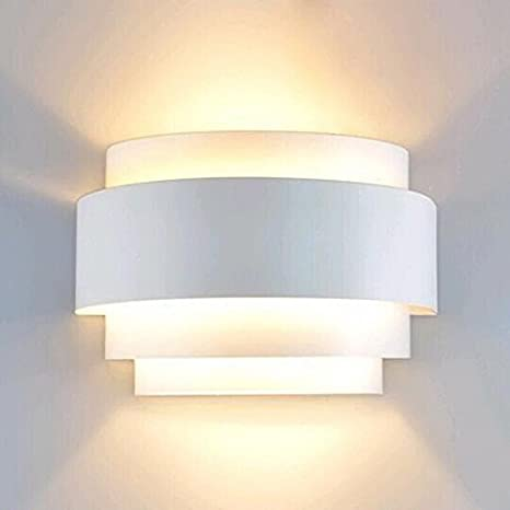 Lightinthebox Modern Contemporary Wall Sconces 1 Light Wall Light Metal Shade E26 E27 Bulb Base Painting Finish 110 120v White Color Amazon Com