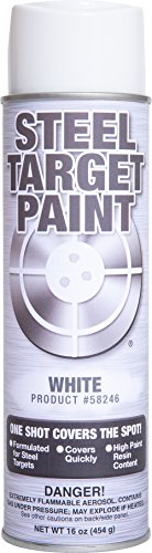 (Steel Target Paint- 16 oz Aerosol Paint in a Can for Shooting Ranges, Shooting Clubs, Parks and Private Ranges and for Match Competition (White, 6 Pack))