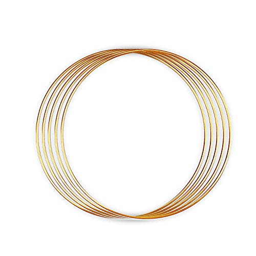 - Metal Rings - for Dream Catcher, Macrame Supplies, Ring Napkin Holders. Gold Hoops by Better Crafts. (5, 10-Inch)