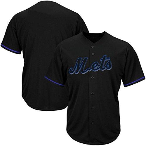 New York Mets MLB Mens Majestic Black Fashion Jersey Big Sizes (3XL) (New York Mets Black Jersey)