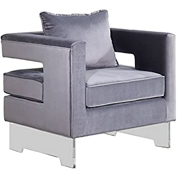 Amazon Com Meridian Furniture 502grey Carson Velvet