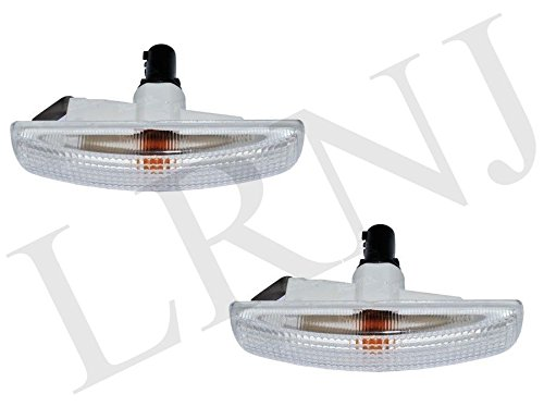 LAND ROVER LR3 / LR4 / LR2 LAMP SIDE REPEATER CLEAR WHITE WITH AMBER BULBS SET LR007954 (Amber Repeater Side)