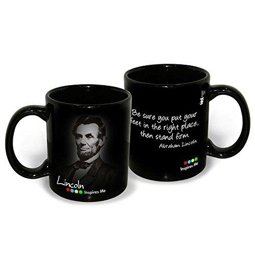 Hot Muggs Abraham Lincoln Quote Ceramic Inspirational Mug, 350ml