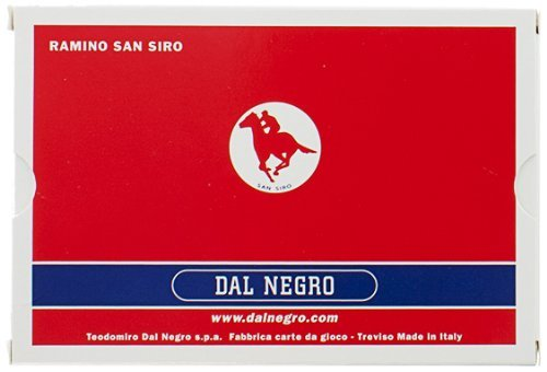 Dal Negro: Cards rummy made in Italy with San Siro back red / blue * 55 per deck * [ Italian Import ]