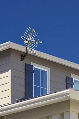 GE 29884 Pro Outdoor/Attic Mount Antenna - Long Range with Compact Design Outdoor / Attic HDTV Antenna for VHF / UHF Channels - 70 Mile Range
