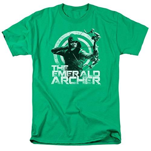 Arrow TV Show The Emerald Archer DC Comics T Shirt & Stickers (Large) (Shirt Dc Arrow)