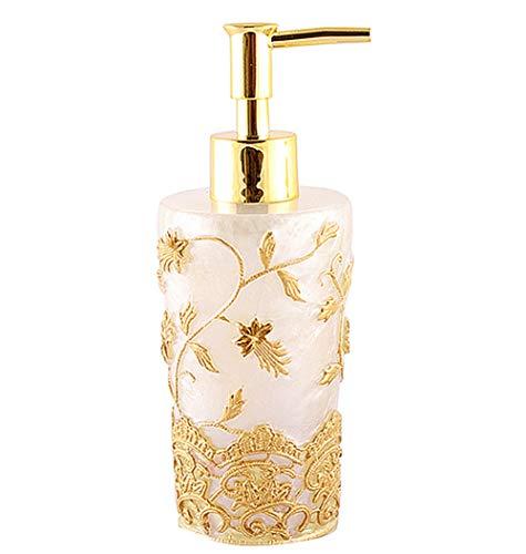Hushfly Liquid Soap Dispenser Pump Container for Bathroom Kitchen Lotion Bottle - Bathroom Dispenser Gold Soap