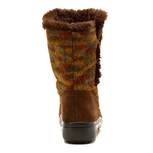 Alegria Womens Nanook Boot Pecan Fuzzy