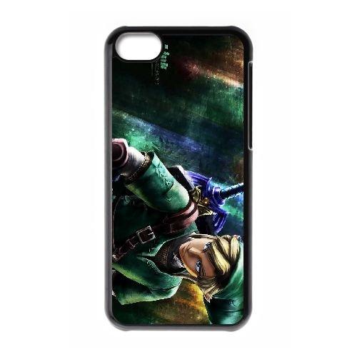 The Legend of Zelda RP83CT5 cas d'coque iPhone de téléphone cellulaire 5c coque P1BV9U9JO