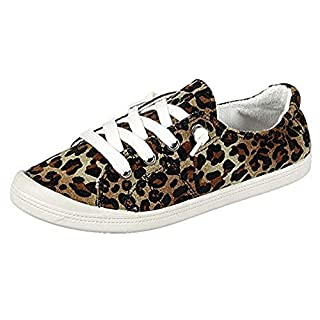 Forever Link Women's Classic Slip-On Comfort Fashion Sneaker, Leopard, 9