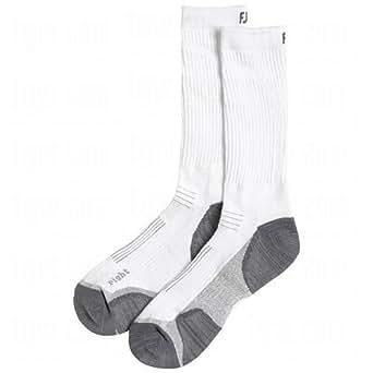 FootJoy TechSof Tour Men's Crew Sock (1 Pair) Shoe Size 7-12 (White)