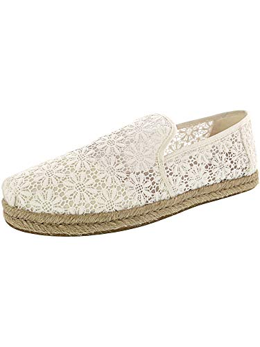 TOMS Women's Deconstructed Alpargata Rope Natural Floral Lace 8 B US