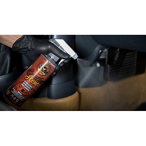 Chemical Guys AIR_102_16 Leather Scent Premium Air Freshener and Odor Eliminator (16 oz)