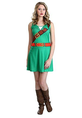 Link Legend Of Zelda Girl Costume (Nintendo The Legend of Zelda Ocarina of Time Link Costume Dress (Small))