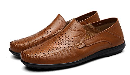 Men's Leather Slip-On Loafer Lightweight Driving Shoes Casual Loafers