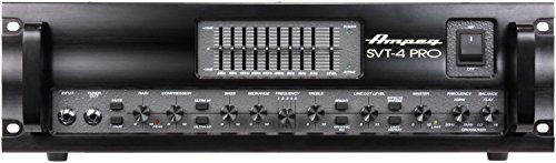 - Ampeg SVT-4PRO Pro Series Tube/Solid-State Hybrid Bass Amplifier Head, 1200 Watt