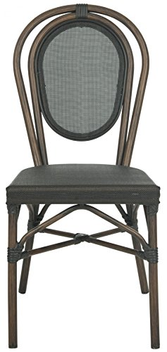 - Safavieh Outdoor Living Collection Ebsen Wicker Side Chairs, Black, Set of 2