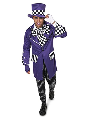 Black and Purple Gothic Mad Hatter Adult Costume for $<!--$44.25-->