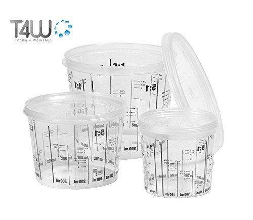 T4 W 2300 ml taza Mixta barniz recipiente mezclador meß becher Taza con tapa (59462) T4W