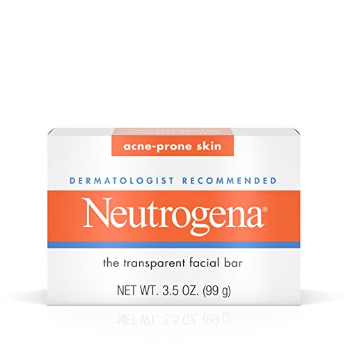 Neutrogena Facial Cleansing Bar Treatment for Acne-Prone Skin, Non-Medicated & Glycerin-Rich Hypoallergenic Formula with No Detergents or Dyes, 3.5 oz (Pack of 2)