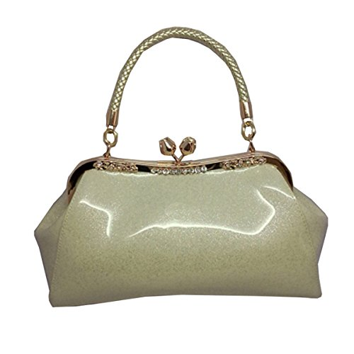 Patent For Handbags Package Portable Silver Bag Fashion Women Package Women Leather Diagonal Shoulder Wedding Bridal 4wR5Rxq1dO