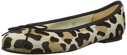Beige French Jaguar Leopard Sole Ponyhair Henrietta Mujer Bailarinas zU7qOU