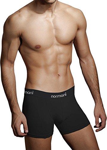 4 x Herren Unterwäsche Boxershorts original normani® Exclusive Farbe Schwarz Größe L