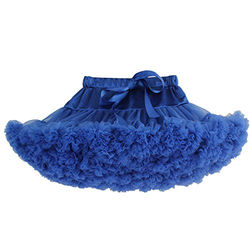 Wraith of East Grace Girls Petticoat Skirts Dance Tutu Underskirt Fluffy Dress M Royal Blue