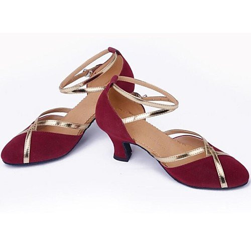 Dance Suede T Q Purple T Chunky Modern Purple Heel Women's Shoes qxntPnw1p4