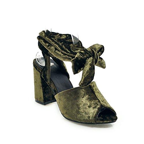 Bouche épais avec de de Green Haut Romain Taille Sangles Poisson Talon Pieds Femmes Sandales Chaussures Grande 7FqwxAXIXY
