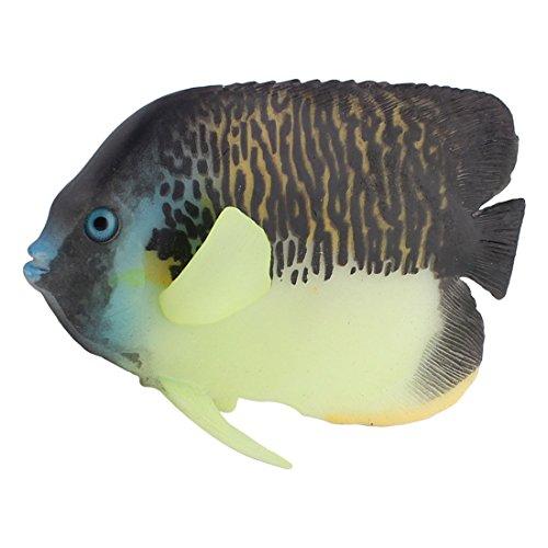 Image of uxcell Silicone Aquascape Aquarium Fishbowl Emulational Imitation Angelfish Ornament
