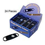 Plastic Guillotine Single Blade Cigar Cutters - 24 Pack (Display Box) - up to 54 Ring Gauge - Prestige Import Group