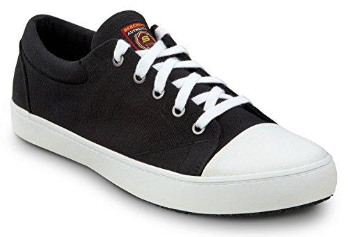 (Skechers Men's Patrick Soft Toe Slip Resistant Skate Shoe (14.0 M, Black/White))