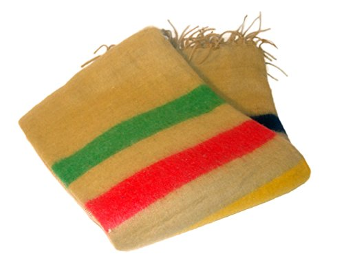 Alpaca Striped Tan Blanket Reversible Two Tone Warm, Soft and Light *000120* 2 Tone Blanket