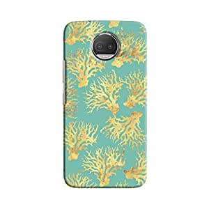 Cover It Up - Blue Gold Nature Print Moto G5s Plus Hard Case