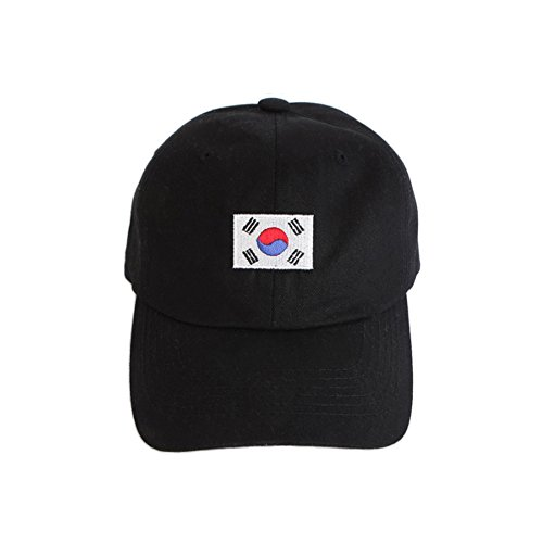 MACARON Unisex-Adult BigBang GD's Seoul Korea 88 Olympics Snapback (Korea Flag (Black))