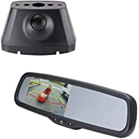 EchoMaster DP04R DODGE PROMASTER OE CUSTOM FIT CAMERA (PCAM-PM4-N) / 4.3 inch REAR CAMERA DISPLAY MIRROR (PMM-43-CJD-PL)