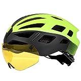 ZZYJ Gafas de Casco de Ciclismo Gafas magnéticas integradas Gorra de Casco de Seguridad de Bicicleta de montaña