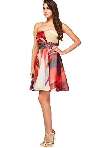 Abendkleid Partykleid Nazisse Damen Ballkleid Chiffon Ivydressing Hochwertig Blumenmuster Promkleid wa0qqZO