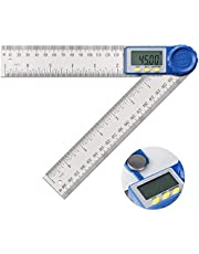 Voniry Angle Finder-Digital Protractor Angle Gauge, 2-in-1 Angle Measurement Tool for Woodworking/Carpenter/Construction/DIY, Goniometer Stainless Steel Ruler 360 Degrees Inch Metric Scale Rulers