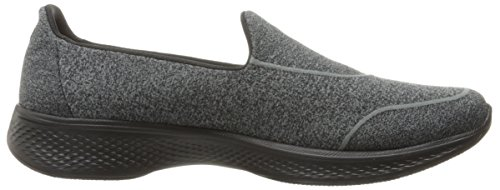 Skechers Gowalk 4 Super Sock 4, Baskets Basses Femme Noir (Bbk)